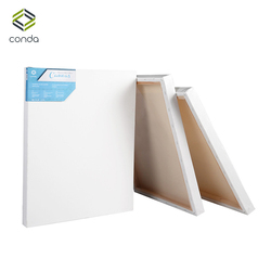 CONDA Artist Stretched Canvas 8*10 Painting Board 10 Pack for Oil Acrylic Drawing Panel Professional Art Supplies