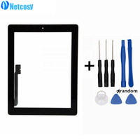 For Ipad 3 Touchscreen Black White Touch Screen Digitizer Home Button Assembly Repair For Ipad 3