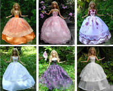 15 PCS Dresses Hangers Shoes Handmade Clothing Gown For Barbie Doll