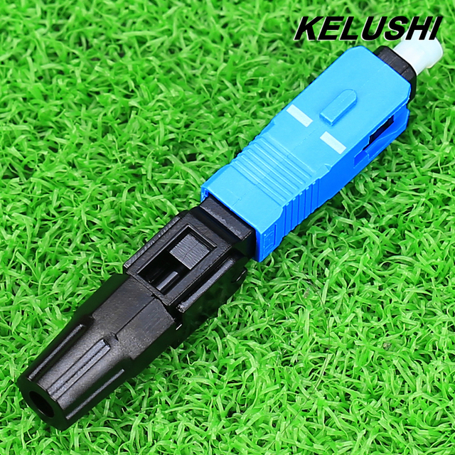 KELUSHI 100 PCS FTTH Embedded SC Cold Jiezi Optical Fiber Cold Jiezi Cold Joints Flex Rapid Optical Fiber Connector