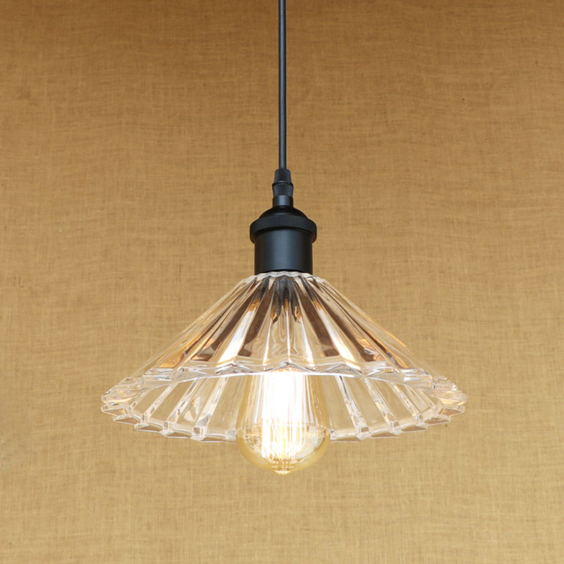Retro Clear Glass Shade Indoor Lighting Pendant Light E27 Living Room Pendant Lights LED Edison Bulb 220v For Dining Room Bar creative design modern glass ball pendant lights lamps for dining room living room bar 96 265v e27 edison bulb wpl116