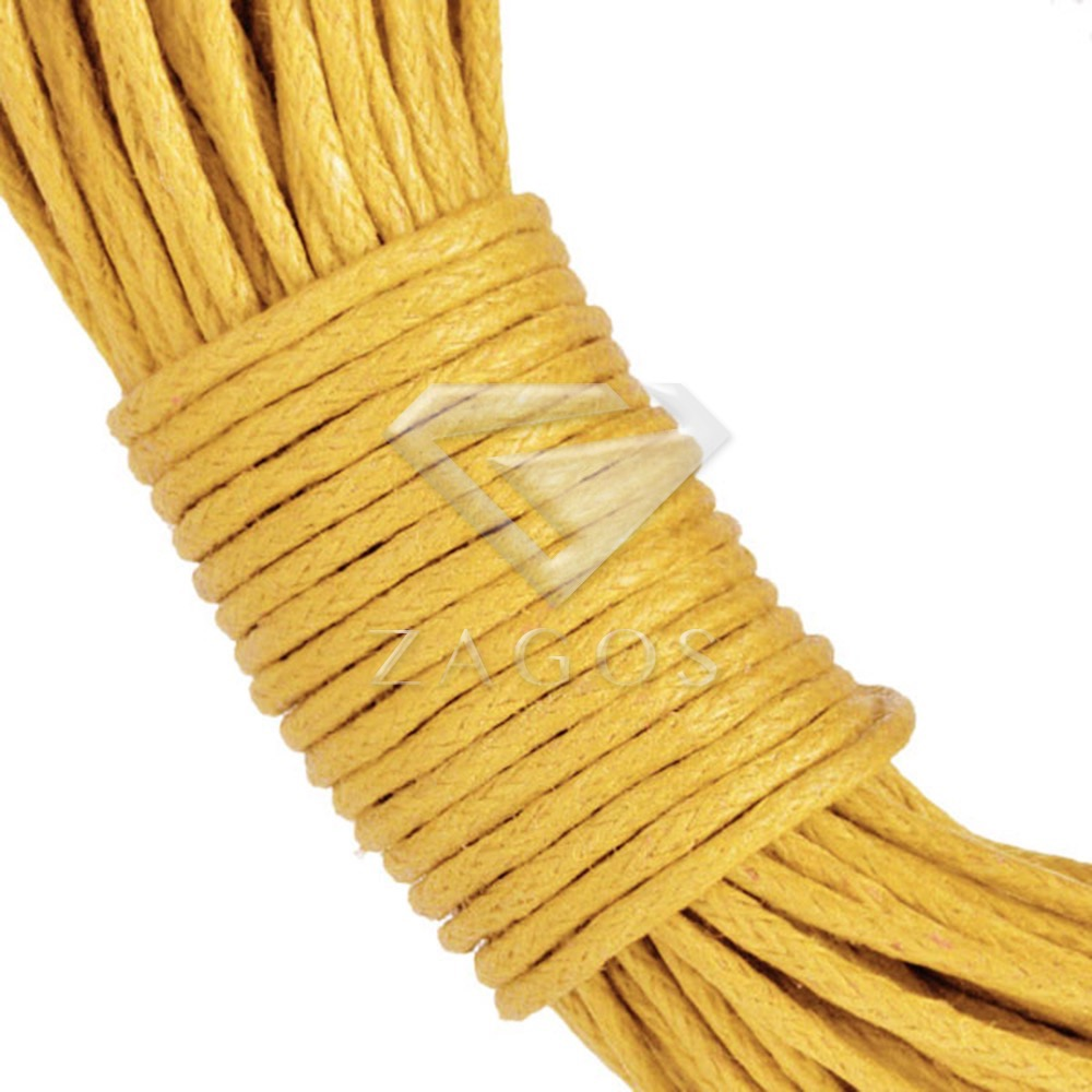 20M Waxed Cotton Wire Cord Jewellery Bracelet Necklace Finding 1x1mm Blue Yellow