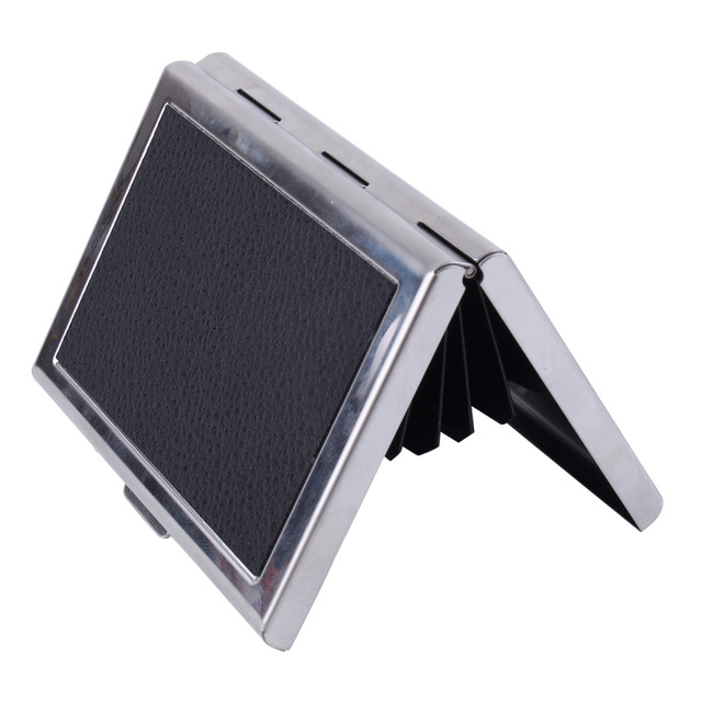 Mini black aluminum card holder waterproof snap closure card box mini black aluminum card holder waterproof snap closure card box business cards ids credit cards storage reheart Gallery