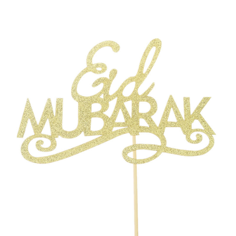 Eid Mubarak Cake Toppers Flags Happy Birthday Glitter Kids Baby Cupcake Topper Wedding Baby Shower Party DIY Baking Xmas Decor in Cake Decorating Supplies from Home Garden