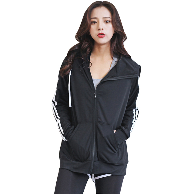 Women Running Jacket Clothing Quick-dry Long-sleeve Sportswear for Female Sports Fitness Zipper Coat Outerwear Yoga Shirts