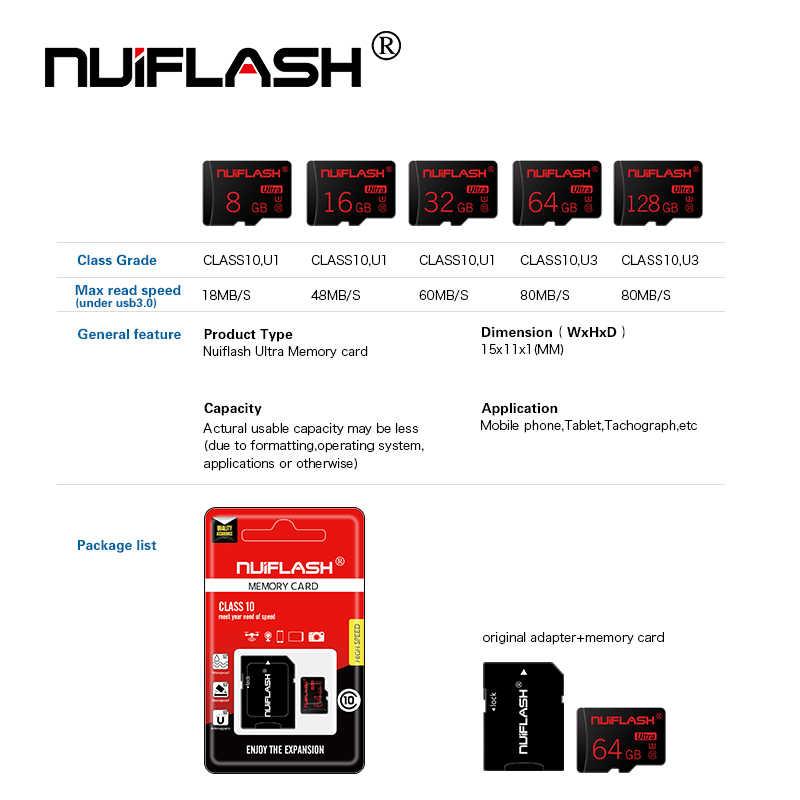 Tarjeta de memoria de 128 GB 64 GB 32 GB 16 GB 8 GB SD TF tarjeta Class10 tarjeta Flash 8 16 32 64 Cartao 128 GB De Memoria con adaptador