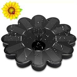 Solar Fountain Pump Flower Miniature Recyclable Water Source For Garden Pool Pond Outdoor Rockery Landscape Watering