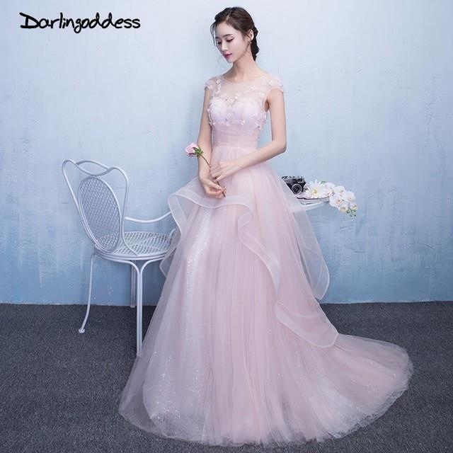 Darlingoddess Vestido De Noiva Pink Beach Wedding Dress Boho Vintage