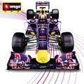 Envío Gratis 1:32 Diecast Burago Equipo Red Bull Metal Modelo Juguetes Del Coche de F1 Fans Colección Decoración Modelo de Vehículo Vettel Webber