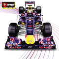 Free Shipping 1:32 Burago Diecast Red Bull Team Metal Model F1 Car Toys Fans Collection Decoration Vehicle Model Vettel Webber