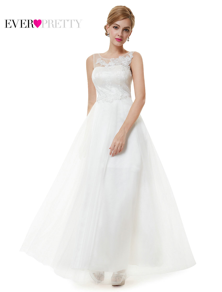 Ever Pretty Clearance Style Bridesmaid Dresses Women Elegant White Vintage Sleeveless A Line Lace Wedding Dress XXHW74480EHA In From