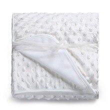 Детское одеяло для новорожденных, теплое мягкое Флисовое одеяло и постельное белье для пеленания