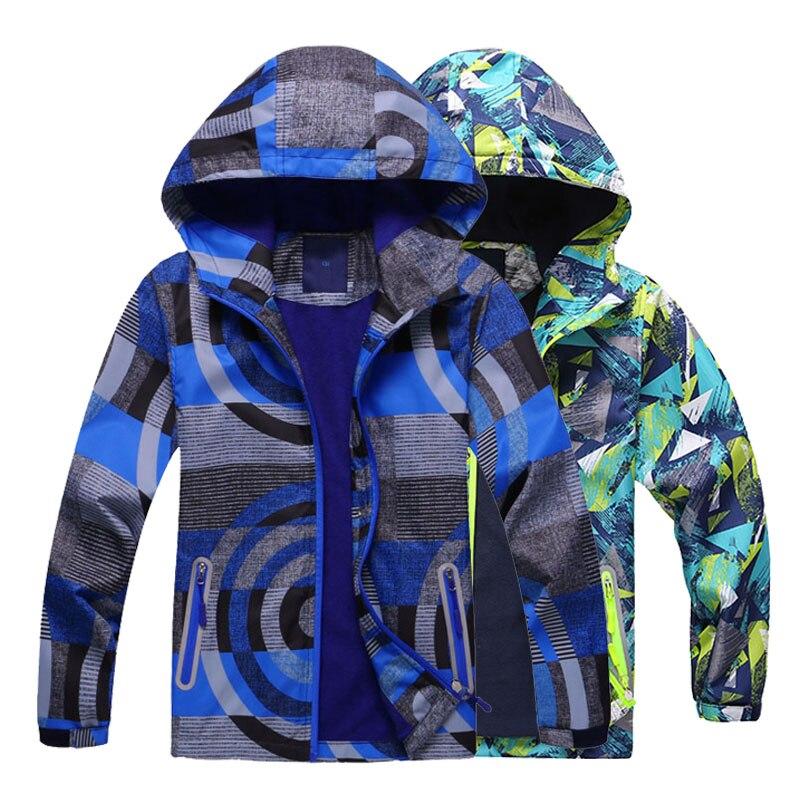Мода 2019 года, весенние куртки для мальчиков и девочек детская верхняя одежда для мальчиков водонепроницаемые ветровки с капюшоном, куртки для детей, теплое флисовое пальто