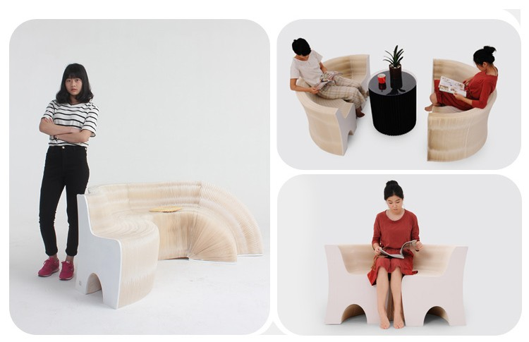 Creative design of modern living room sofa backrest practical furniture environment-friendly furniture Creative sofa