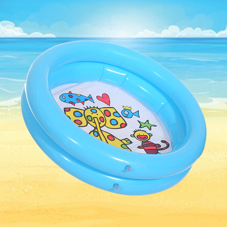 60*60cm Baby Swimming Pool Summer Round Play Pool Inflatable Pool Lovely Animal Printed Bottom Kid Child Play Ball Pool Toys