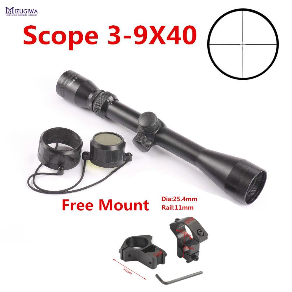 ⊹Táctico riflescope 3-9X40 retícula duplex vista del rifle del ...