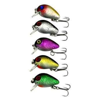 Relefree 1.5g 3cm Artificial Lure Top water Wobbler Color Random Mini Fly Fishing Crank bait Cranks Fishing Lure Baits grille