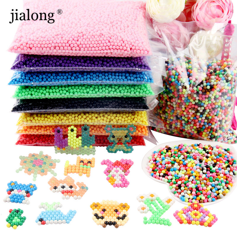 24 Colors 6000pcs 5mm Aquabeads Perlen Magic Water Spray Beads Aqua Beads Children 3D Puzzles Toys