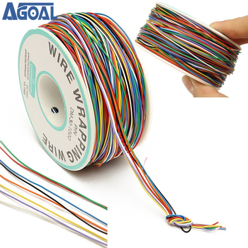 Цветная изоляционная катушка для кабеля, 250 м, 8 проводов, P/N, B-30-1000, 30 awg