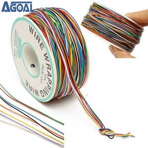 250M 8-Wire kolorowe izolowane P/N B-30-1000 30AWG owijanie drutu osłonka na kable kołowrotek