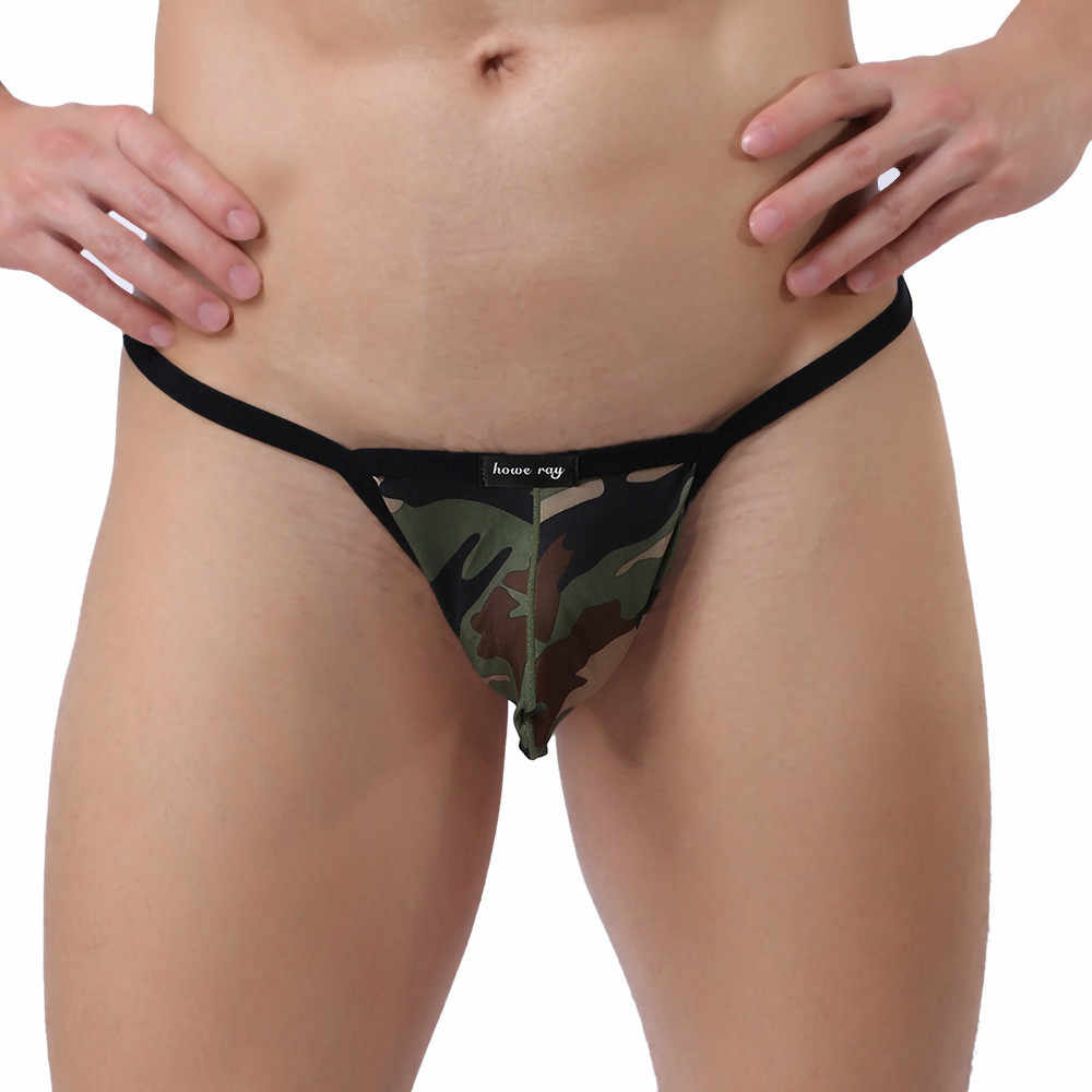 bc0314eed84 1PCS Hot Men Camouflage Elastic Breathable Underwear Sexy Comfortable  Breathable Incredible Erogenous Underpant New Arrival 2019