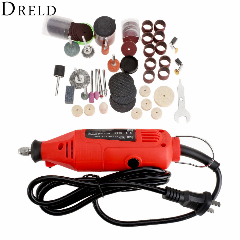 230V 230W Mini Grinding Machine ROTARY TOOLS Variable Speed Electric Drill Grinder+105Pcs Polishing Sanding Tool for Rotary Tool motorcycle parts blue led see through engine clutch cover for suzuki gsx1300r hayabusa b king chromium
