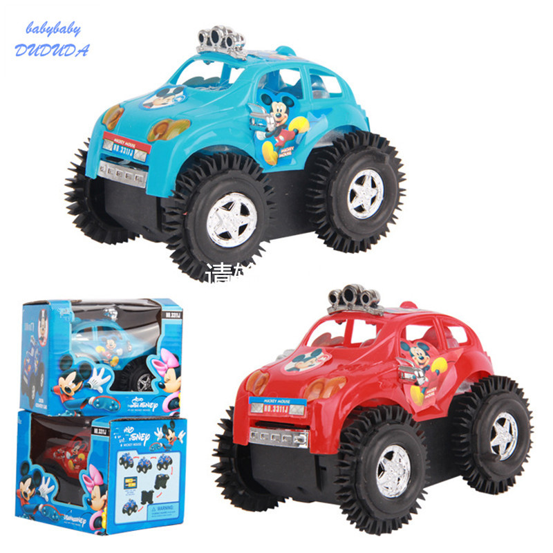 Amusing Electric Cars Mickey Dumpers Cars Rapid Dump Trucks kids Toys Children Vehicle Toy For Boy Gifts