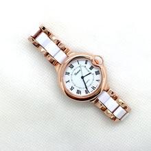 Venta caliente de la marca de Ginebra reloj de platino globo forma reloj relogios feminino con movimiento de cuarzo Japonés