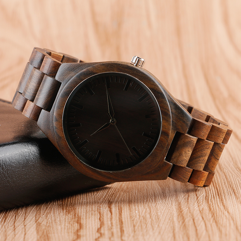2017 Luxury Full Wooden Watches Men's Creative Unique Wrist Watch Bamboo Analog Quartz Watch Male Clock Sports Gift men s fashion luxury style charm jewelry bamboo wooden quartz analog wrist watch