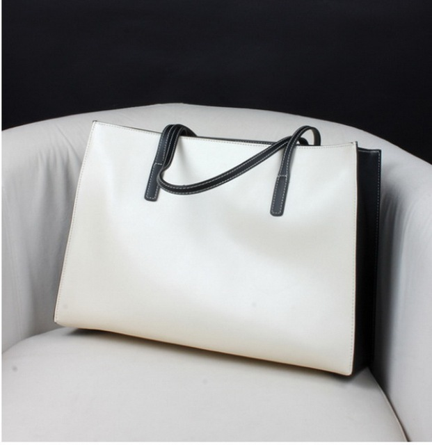 Genuine leather women's shoulder bag soft leather tote handle bags free shipping