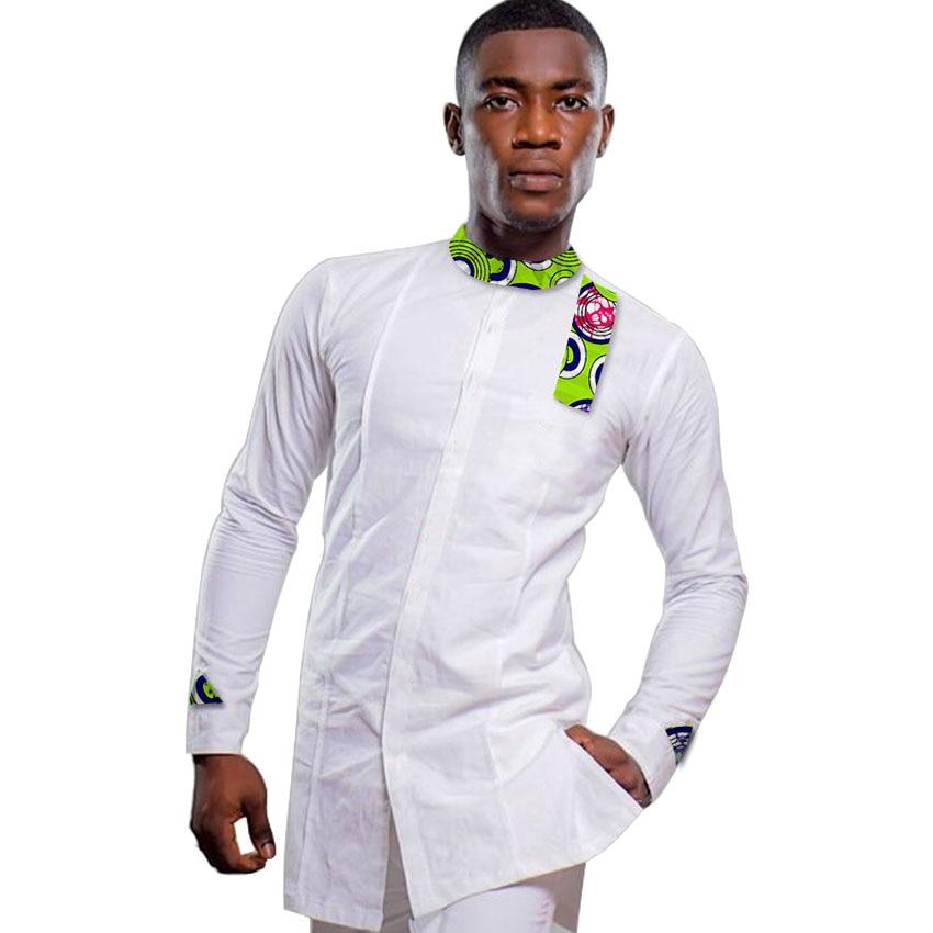 Φθινόπωρο / Άνοιξη Μόδα Άντρες Αφρική Εορταστικό Ένδυση Άγκυρα Ρούχα Αφρικανική Εκτύπωση Tops Μακρύ μανίκι Tops Βαμβακερά ραφή Batik