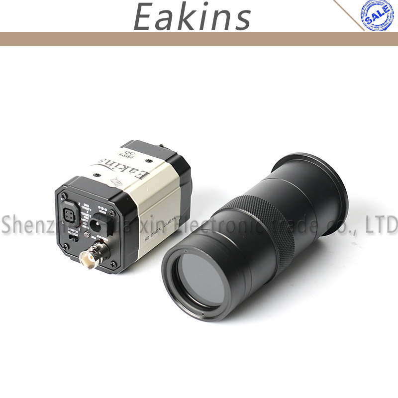 1/3  BNC CCD Video Camera Mounting Electronic Digital Microscope Eyepiece 1200 Lines Industrial Camera + Zoom 100X C-Mount Lens 0 7x 4 5x continuous zoom electronic digital microscope ccd camera eyepiece zoom lens magnification