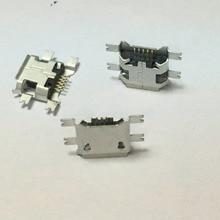 10Pcs/lot Micro USB Data Type B Female 5Pin Socket 4Legs SMT SMD Soldering Connector Jack Plug