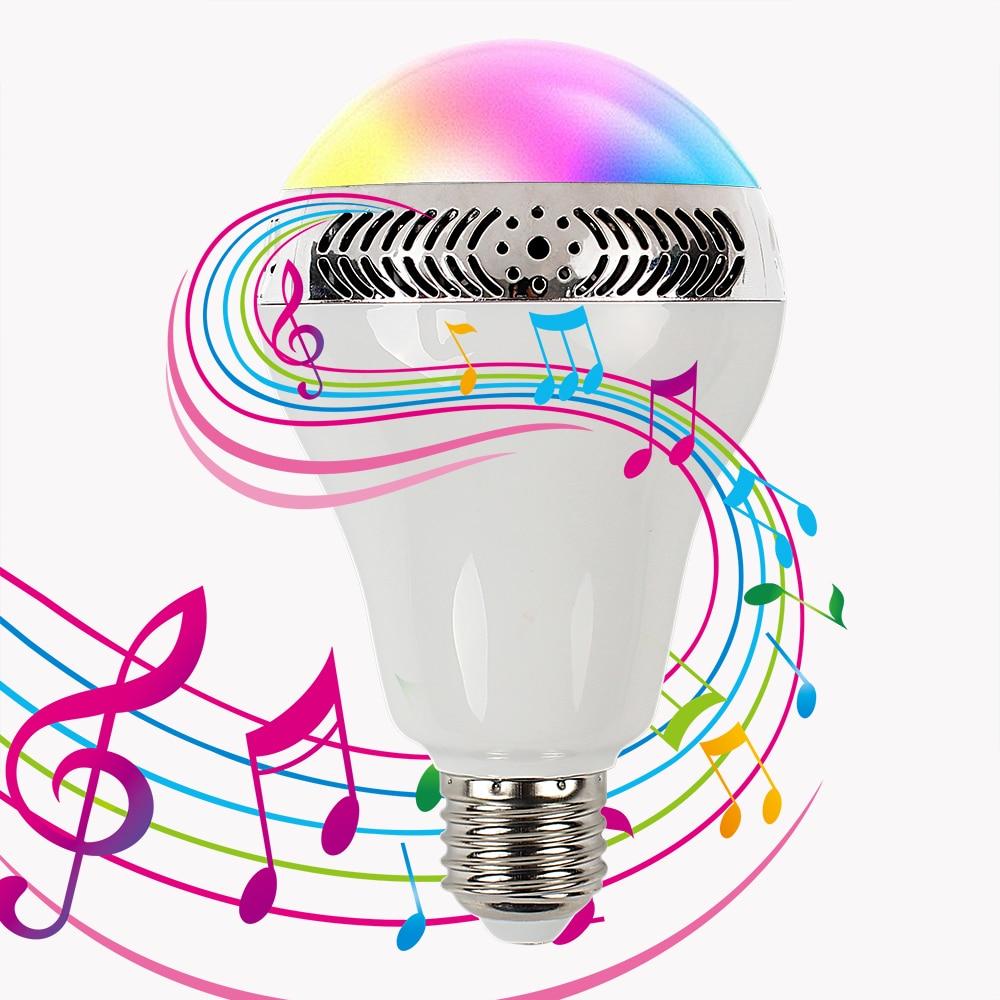 Music Light Color Changing Multifunctional Wireless Speaker Night Lights Decorative Led Bulb Bluetooth 4.0 #KF