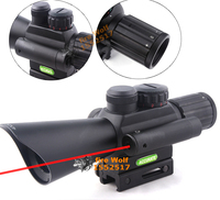 Compact M7 4x32 Rifle Scope Red Green Mil Dot Reticle With Side Attached Red Laser Sight
