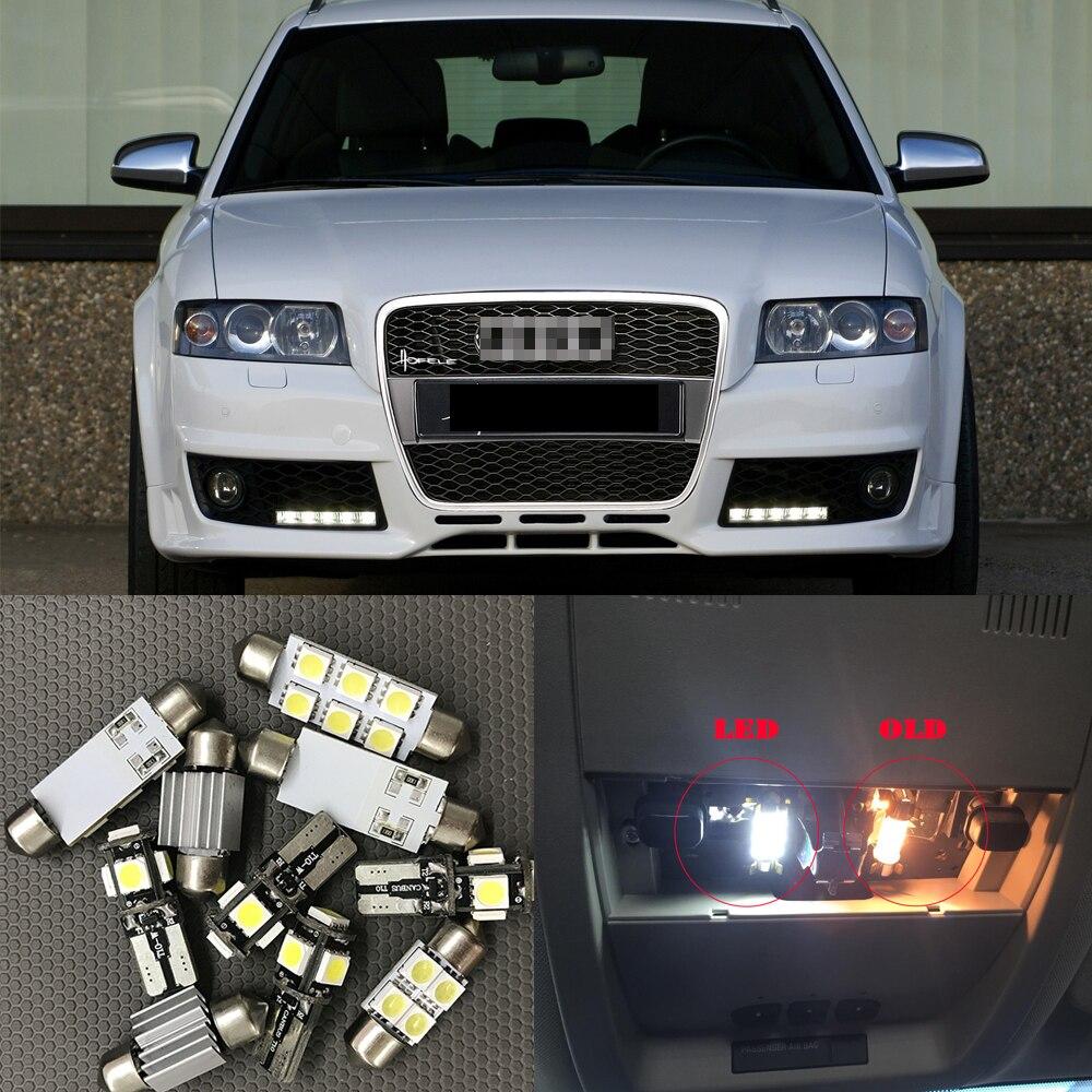 12 pc biały Canbus samochodów LED żarówki pakiet wnętrz