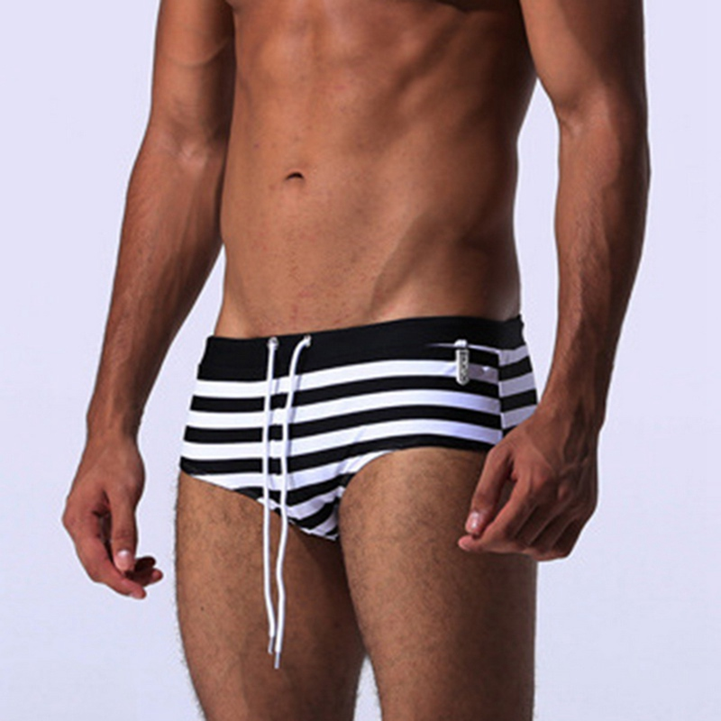 79f08b95af8590 vertvie Hot Sale Striped Print Swimwear Men Swimsuit Maillot De Bain Swim  Boxer Shorts Swimming Trunk Surf Banadores Mayo Sungas-in Body Suits from  Sports ...