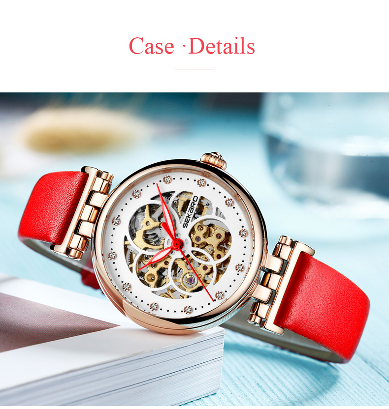 Watches Self-Conscious Hvenshi Watch Women Automatic Waterproof Top Brand Mechanical Watches Full Stainless Steel Rose Gold Clocks Elegant Ladies Watch