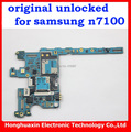 Bom trabalho 16 gb mainboard original para samsung galaxy note2 n7100 desbloqueado motherboard placa lógica da ue versão nota 2 n7100