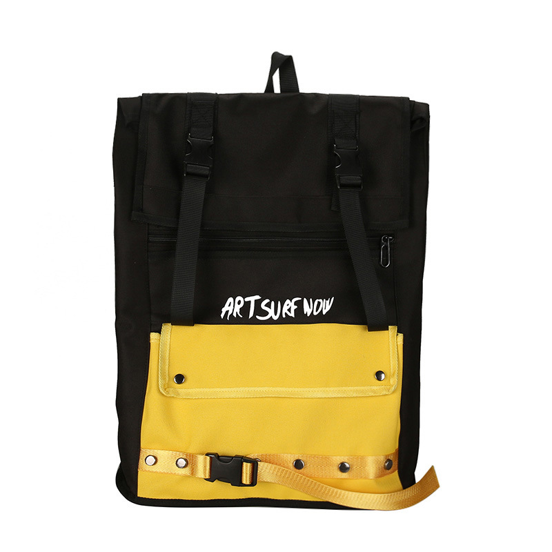 Hot Sale Fashion Ulzzang Large Capacity Backpack Unisex Student Backpack College Wind Couple Contrast Color Computer Backpack 6