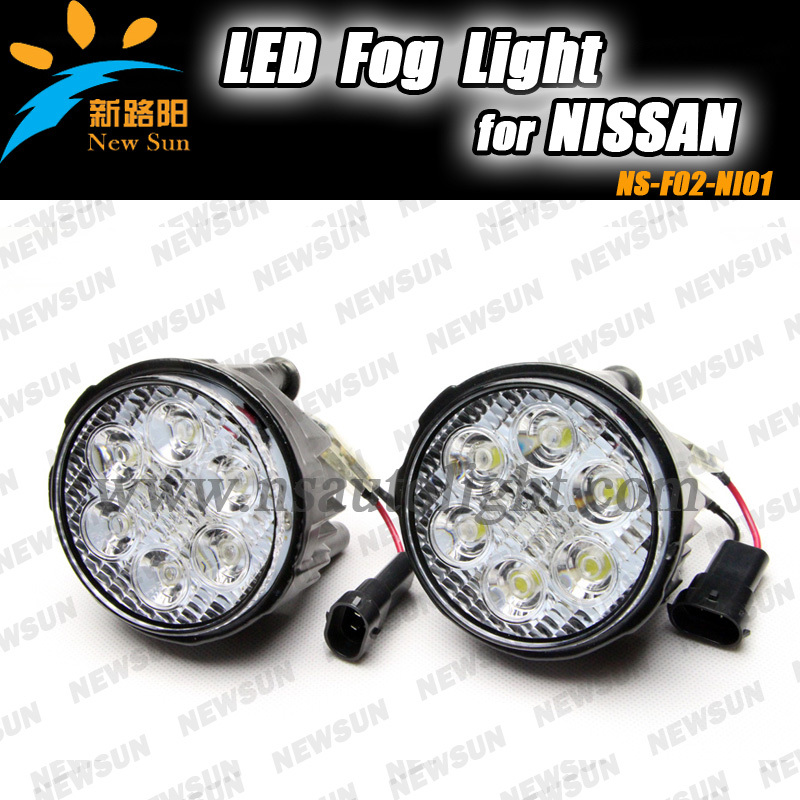 Ultra bright 16W car specific led drl fog lamp kit driving day light for NISSAN TIIDA, X- TRAIL 12V led fog lights Assembly  цена и фото