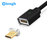 Elough E05 Unique USB Cable Magnetic Charger Cable For Xiaomi Huawei HTC Android Mobile Phone Fast Charge Magnet Micro USB Cable