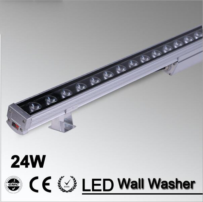 5pcs/lot LED Wall Washer Light 24W 1000mm*46*46mm AC85-265V IP65 Waterproof RGB Wash Outdoor Lighting 50pcs dhl led wall washer lights 18w 18 1w 1000 46 46mm ac85 265v ip65 waterproof rgb floodlight outdoor lighting free shipping