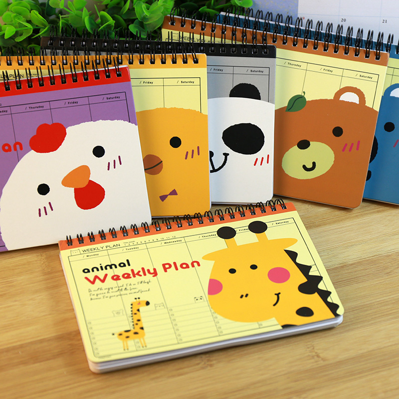 Hot Weekly planner notebook Diary Cute Planners school notebook paper 75 sheets organizer Note book Office