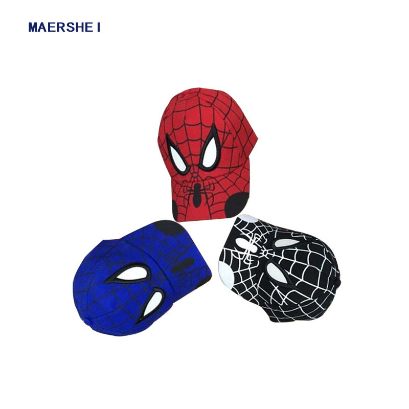 2018 New Kids Cap Boy Spiderman Baseball Cap Girls Cartoon Caps Sprite Hat