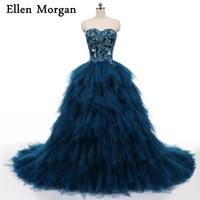 Elegant Quinceanera Dresses with Frils 2018 Real Pictures Sexy Lace Up Ball Gowns Sweet 15 16 Prom Gowns Photography Bridal