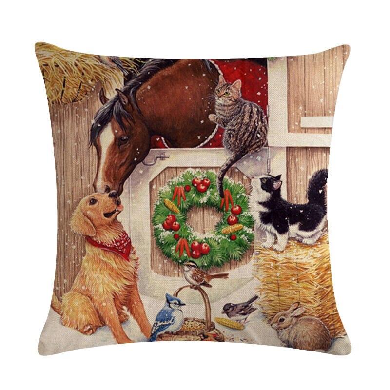 Рождественские открытки с животными, привет