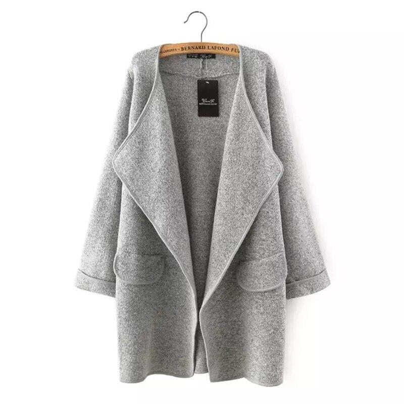 New Women's Fashion Ethnic Wind knit Cardigan Loose Lrregular Lapel Sweater Jacket Cardigan Long Sleeve Solid Loose Lady Females Price $45.80