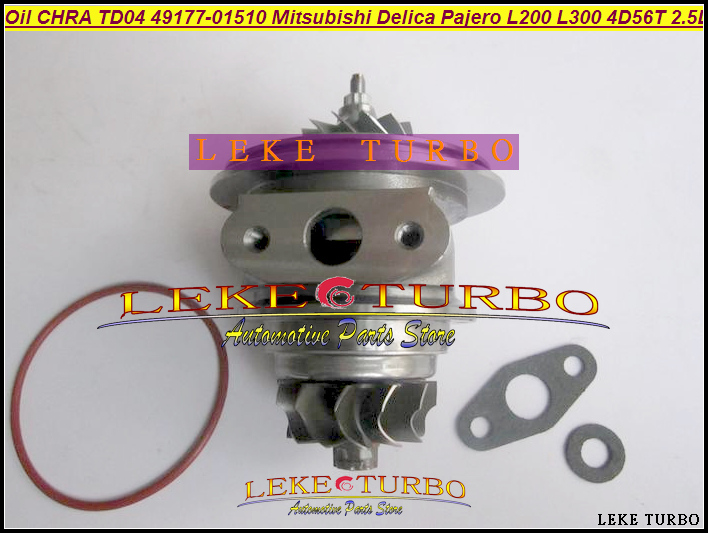 Oil Cooled Turbo CHRA Cartridge TD04 49177-01510 49177 01510 MD106720 For Mitsubishi SHOGUN Delica Pajero L200 L300 4D56 2.5L free ship other model td04 49177 07503 28200 42520 49177 07503 49177 07504 49177 07505 turbo for hyundai galloper d4bf 4d56 2 5l