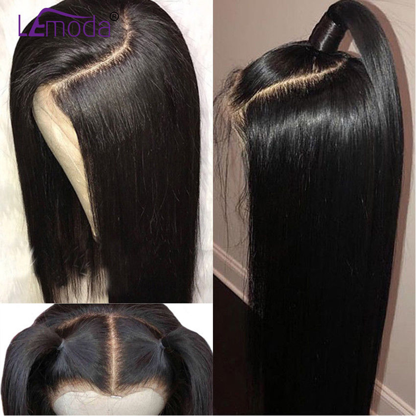 360 Lace Frontal Wig Pre Plucked With Baby Hair Malaysian Remy Straight Lace Front Wig 360